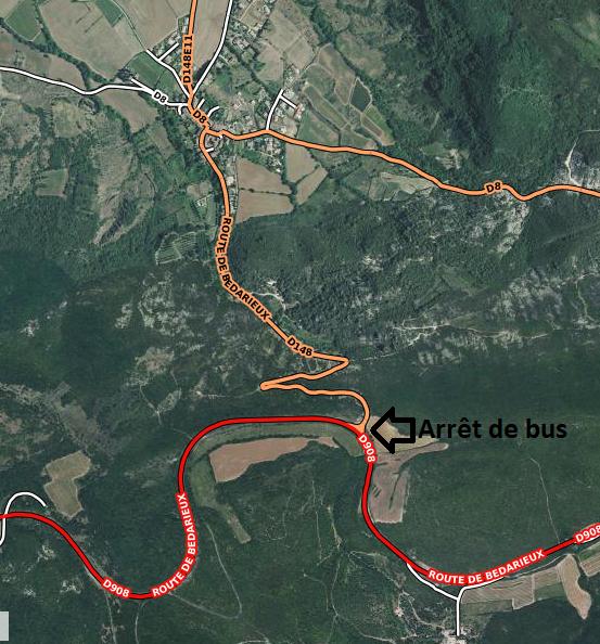 Arrêt de bus Salasc