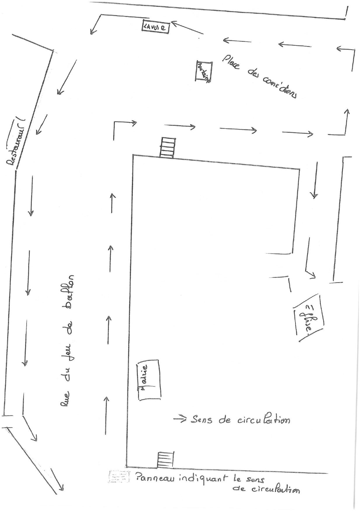 Plan circulation marché de Salasc
