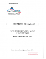 Budget primitif 2020