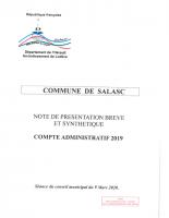 Compte administratif 2019