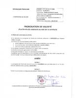Prorogation de validation de PC – VIGNAL 2