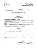 Transfert de siège du bureau de vote de Salasc AP n° 2020-I-1006