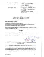 Certificat conformité STURM