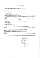 Arrêté travaux poteaux Telecom